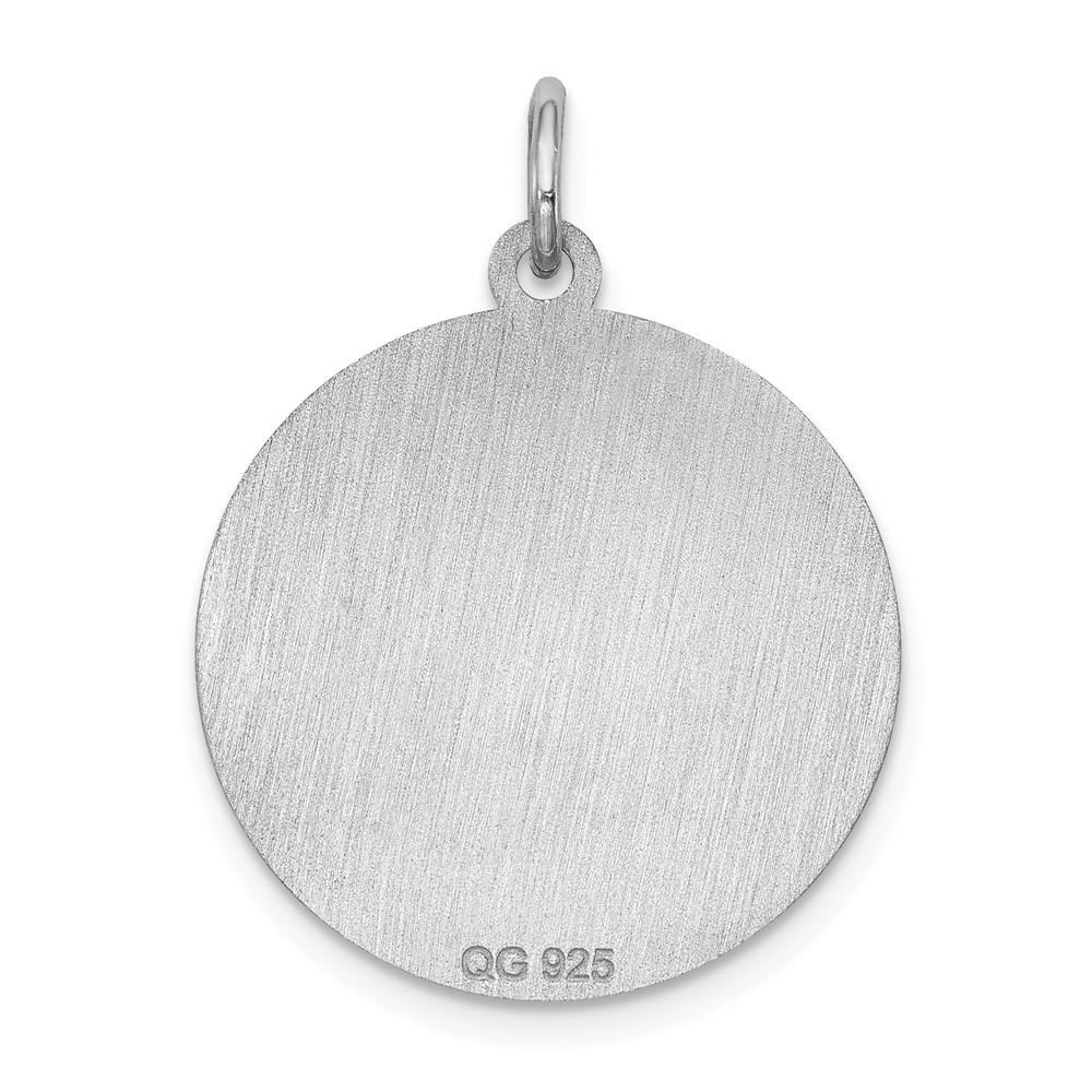 925 Sterling Silver Airedale Disc Pendant Charm Necklace Animal Dog Engravable Round Fine Jewelry Gifts For Women For Her Pendant Necklaces IceCarats.com Designer Jewelry Gift USA