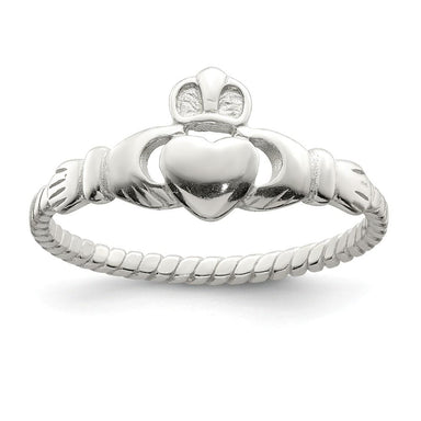 925 Sterling Silver Band Ring Claddagh Celtic Fine Jewelry Gifts For Women For Her Wedding Bands IceCarats.com Designer Jewelry Gift USA