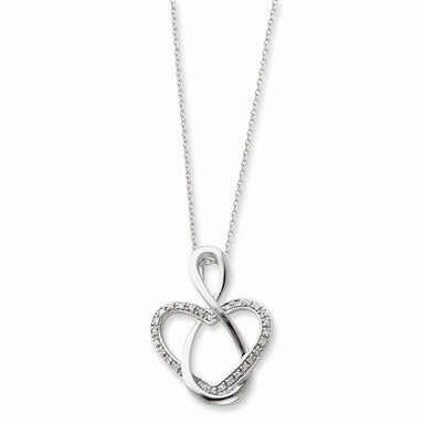 925 Sterling Silver Cubic Zirconia Cz Lifetime Friend 18 Inch Chain Necklace Pendant Charm S/love Infinity Inspirational Fine Jewelry Gifts For Women Pendant Necklaces IceCarats.com Designer Jewelry Gift USA