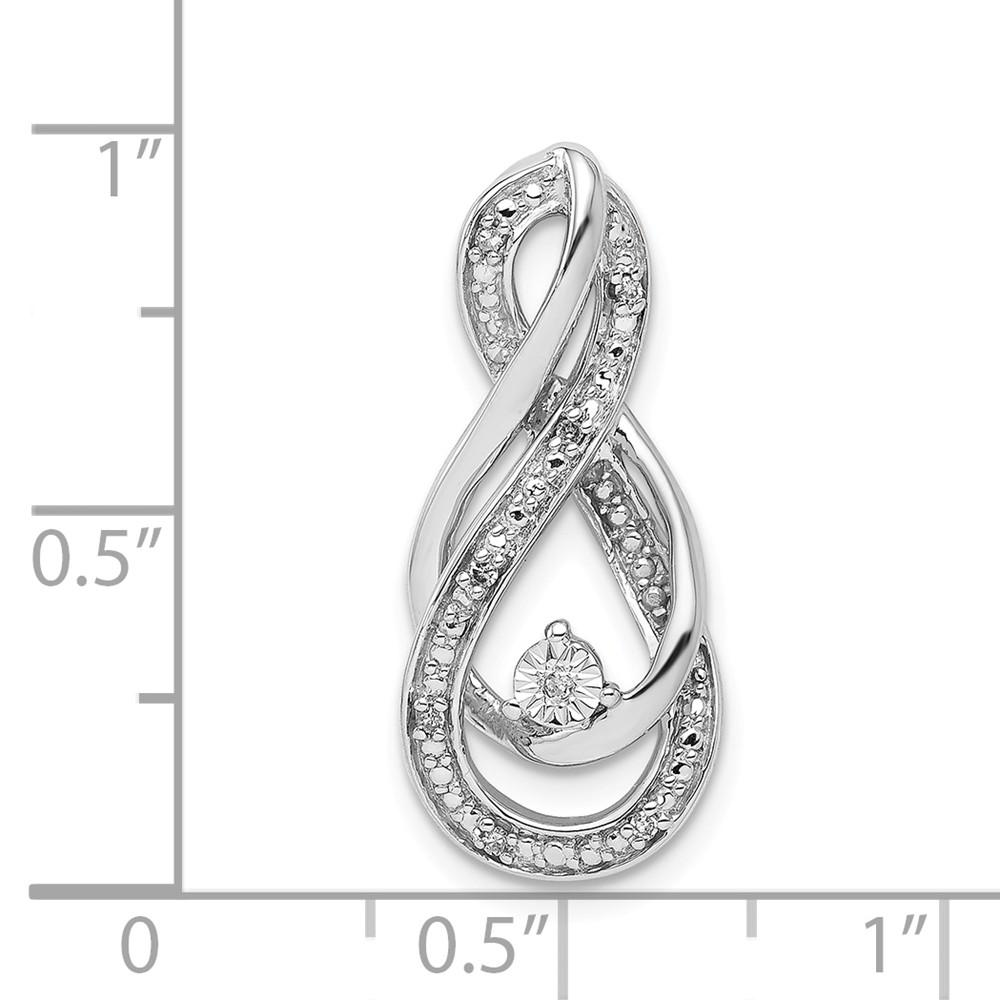 925 Sterling Silver Diamond Infinity Symbol Slide Pendant Charm Necklace Chain Fine Jewelry Gifts For Women For Her Pendant Necklaces IceCarats.com Designer Jewelry Gift USA