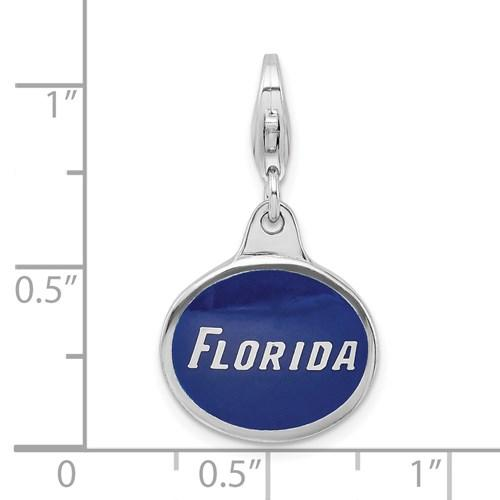 925 Sterling Silver Enamel Univ. Of Florida Lobster Clasp Pendant Charm Necklace Collegiate Fine Jewelry Gifts For Women For Her Pendant Necklaces IceCarats.com Designer Jewelry Gift USA