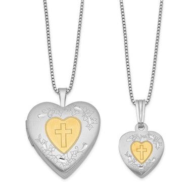 925 Sterling Silver Gold Plated Heart Locket Pendant Charm Necklace Set Fine Jewelry Gifts For Women For Her Locket Necklaces IceCarats.com Designer Jewelry Gift USA