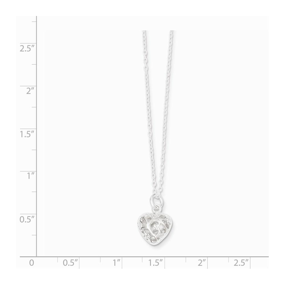 925 Sterling Silver Heart Chain Necklace Pendant Charm S/love Fine Jewelry Gifts For Women For Her Pendant Necklaces IceCarats.com Designer Jewelry Gift USA