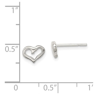 925 Sterling Silver Heart Post Stud Earrings Love Fine Jewelry Gifts For Women For Her Stud Earrings IceCarats.com Designer Jewelry Gift USA