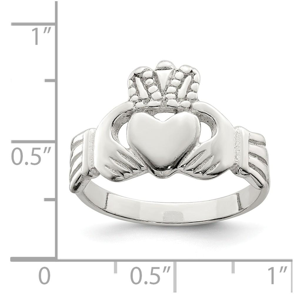 925 Sterling Silver Irish Claddagh Celtic Knot Band Ring Fine Jewelry Gifts For Women For Her Wedding Bands IceCarats.com Designer Jewelry Gift USA