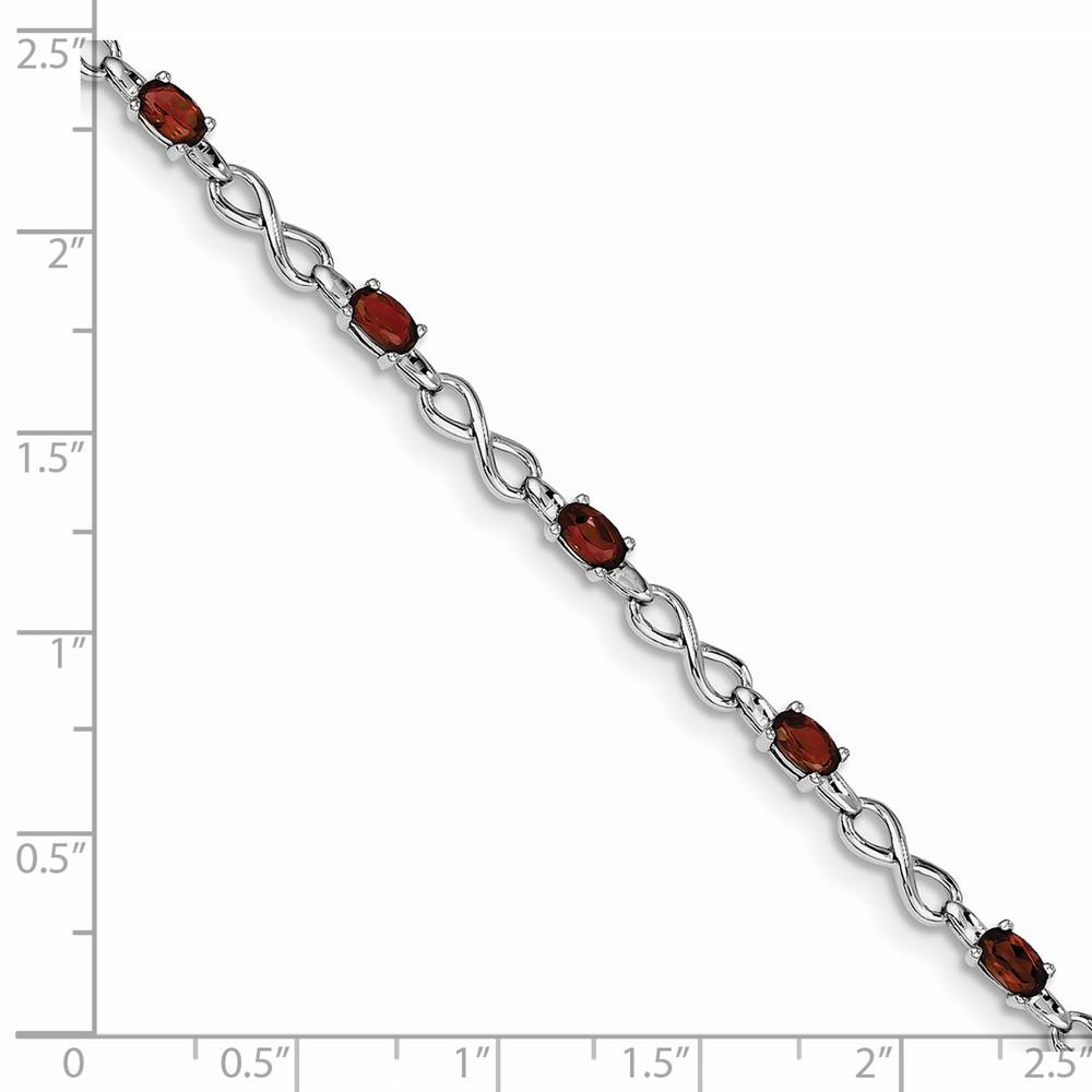 925 Sterling Silver Red Garnet Bracelet 7 Inch Infinity Gemstone Fine Jewelry Gifts For Women For Her Bracelets IceCarats.com Designer Jewelry Gift USA