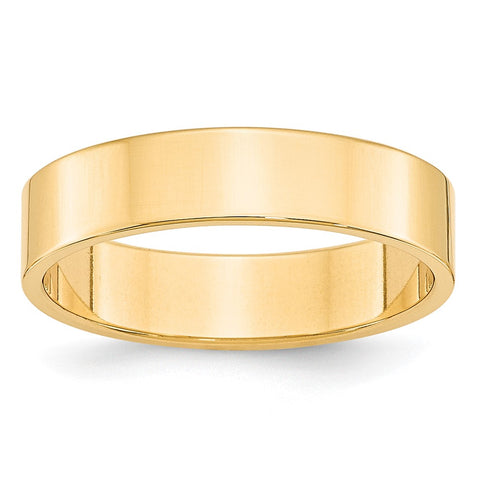 ICE CARATS 14kt Yellow Gold 5mm Ltw Flat Wedding Ring Band Size 8 Classic Fine Jewelry Ideal Gifts For Women Gift Set From Heart