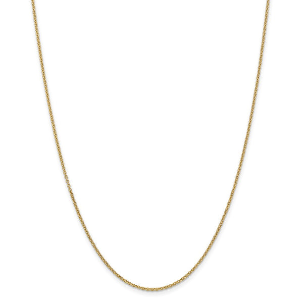 14k Yellow Gold 1.6mm Link Cable Chain Necklace 20 Inch Pendant Charm Round Fine Jewelry Gifts For Women For Her