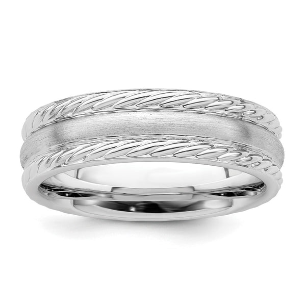 925 Sterling Silver 6mm Brushed Wedding Ring Band Size 11.5 Fancy Fine Jewelry Gifts For Women For Her