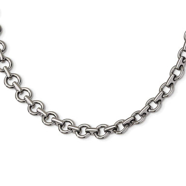Stainless Steel Links 20 Inch Chain Necklace Pendant Charm H Link Man Fashion Jewelry Gift For Dad Mens For Him Pendant Necklaces IceCarats.com Designer Jewelry Gift USA