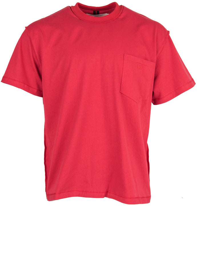 SS Pocket Tee-Crimson