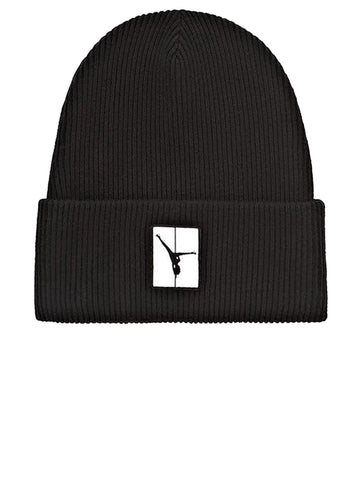 Ribbed Beanie With Flip Girl Patch