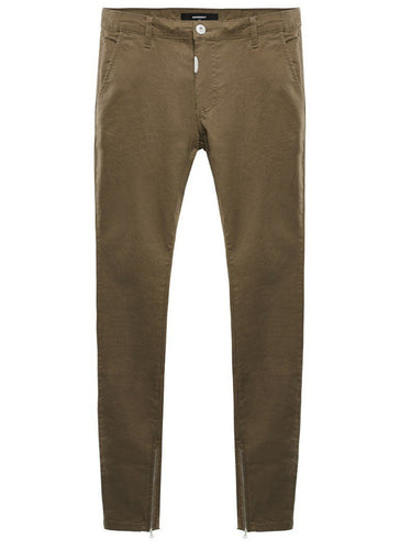 Black Olive Zip Pants