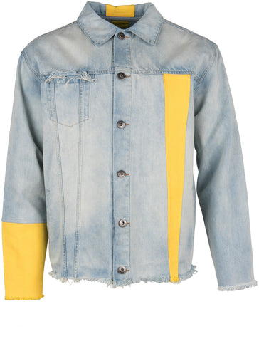 Yellow Sleeve Denim Jacket