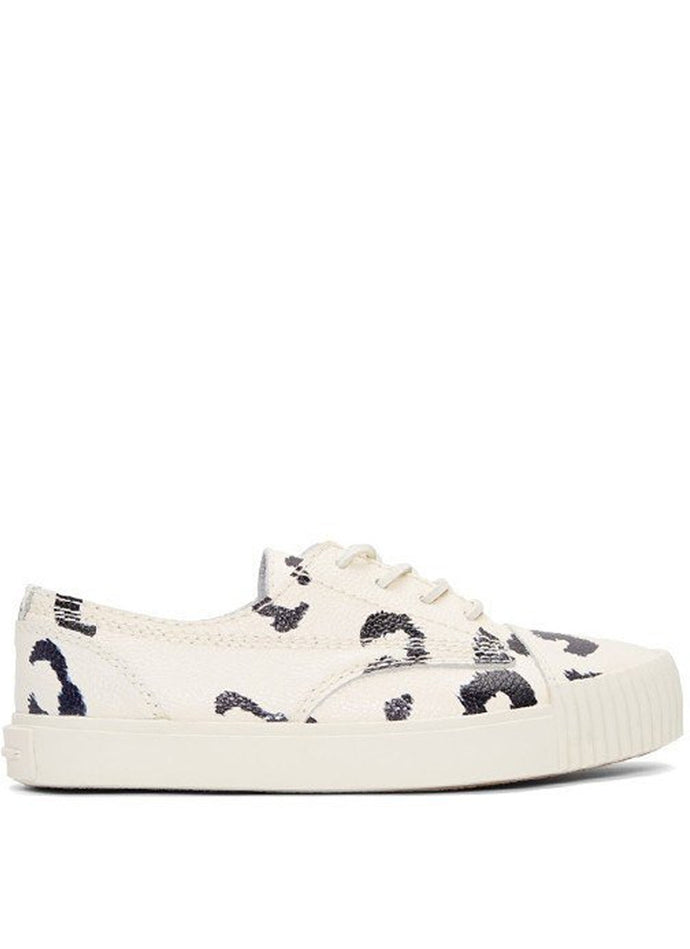 Perry Low Black & White Leopard Printed Pebble LTR