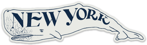 New York Whale Sticker