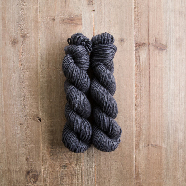 Charcoal - Cashmere Aran (two skeins)