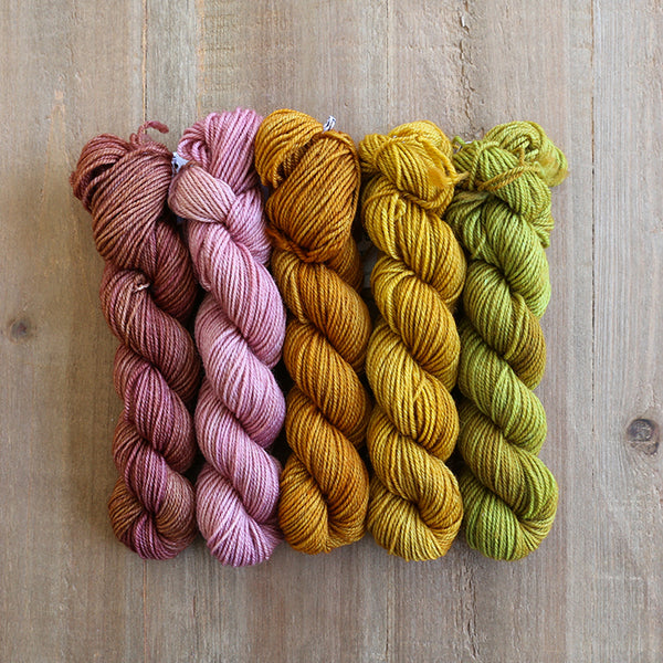 SOFT CITRUS - set of 5 mini skeins