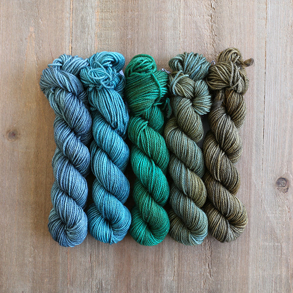 WEST COAST - set of 5 mini skeins