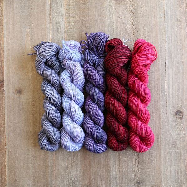 ROMANCE - set of 5 mini skeins