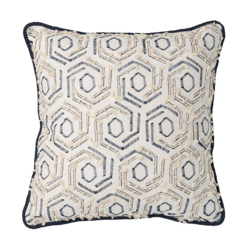Rig Navy and Cream Cushion - Janggalay