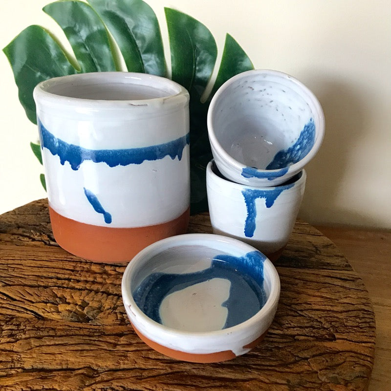 Sugar Bowl Ocean Shore Pottery by Brooke Clunie Vase-Janggalay