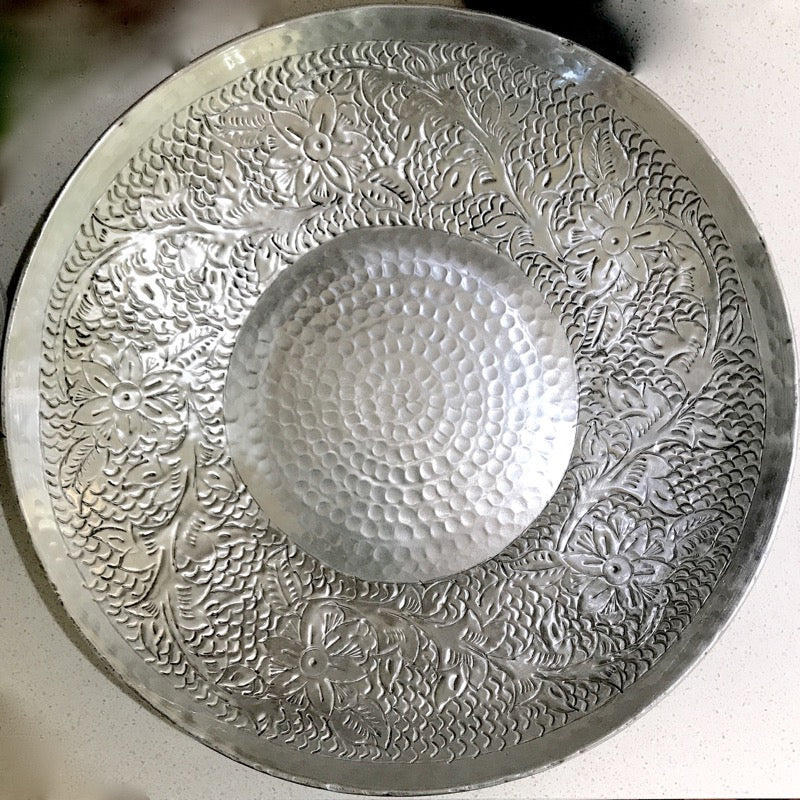 Silver Aluminium Etched Bowl-Janggalay