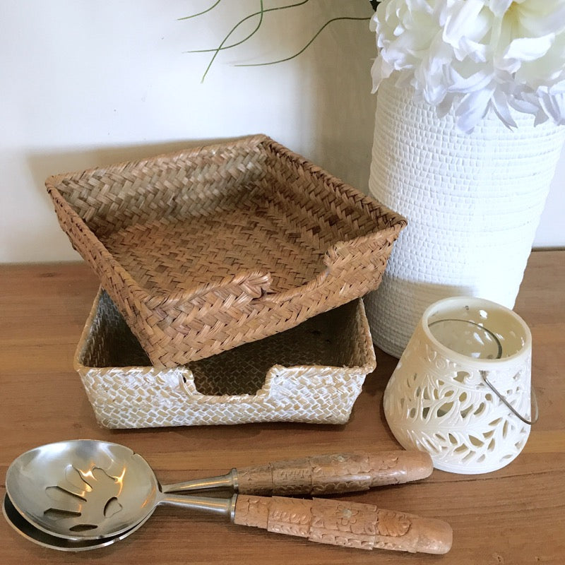 Rattan Serviette Holder Seagrass Napkin-Janggalay