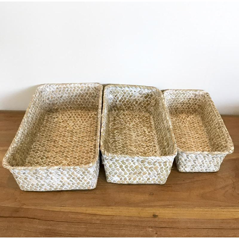 Seagrass Storage Trays Set of 3-Janggalay
