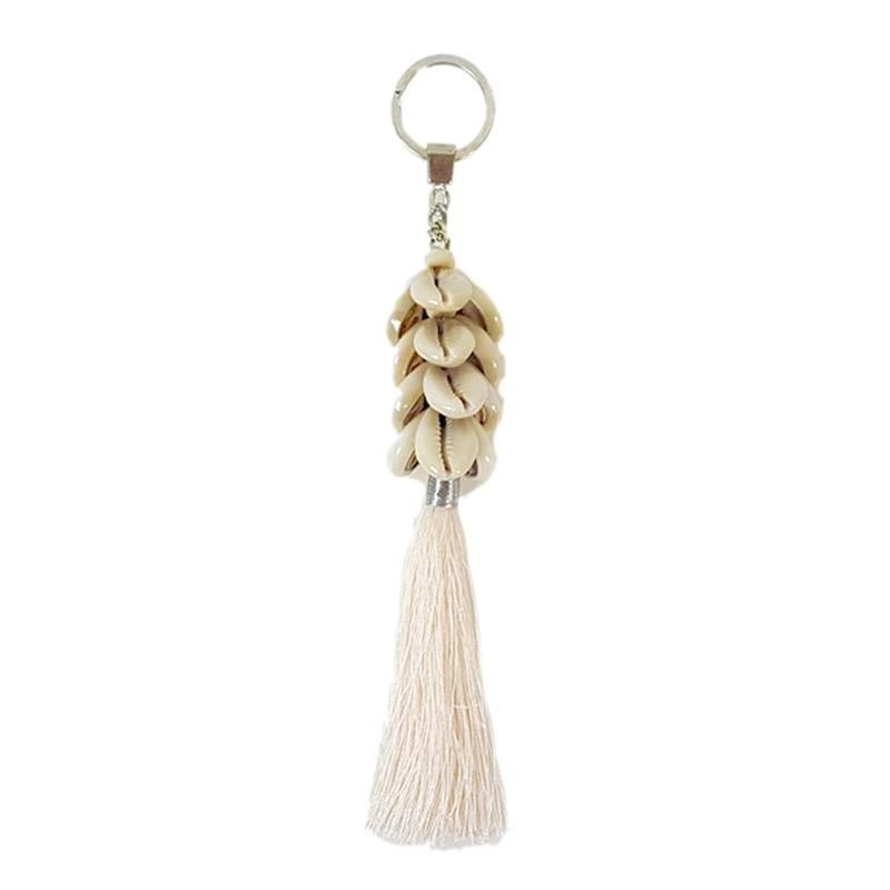 Boho Keyring Shell and Tassel-Janggalay