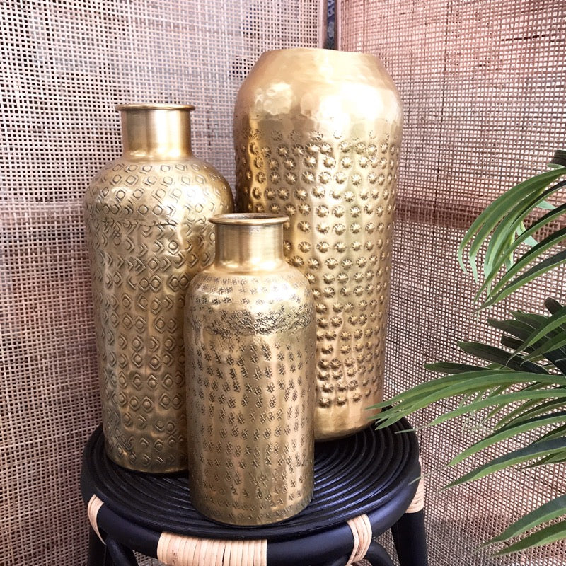 Paris Vase Gold Finish-Janggalay