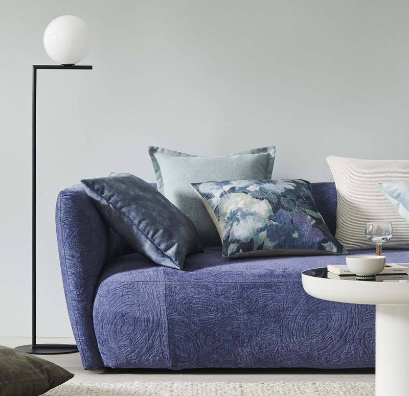 Ava Velvet Cushion Ocean Blue