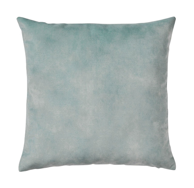Ava Velvet Cushion Seamist Blue - Janggalay