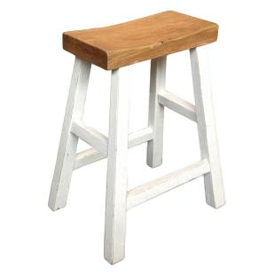 Beach House Elm Stool