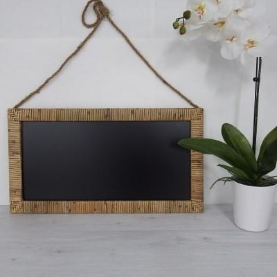 Bahamas Cane Framed Blackboard-Janggalay