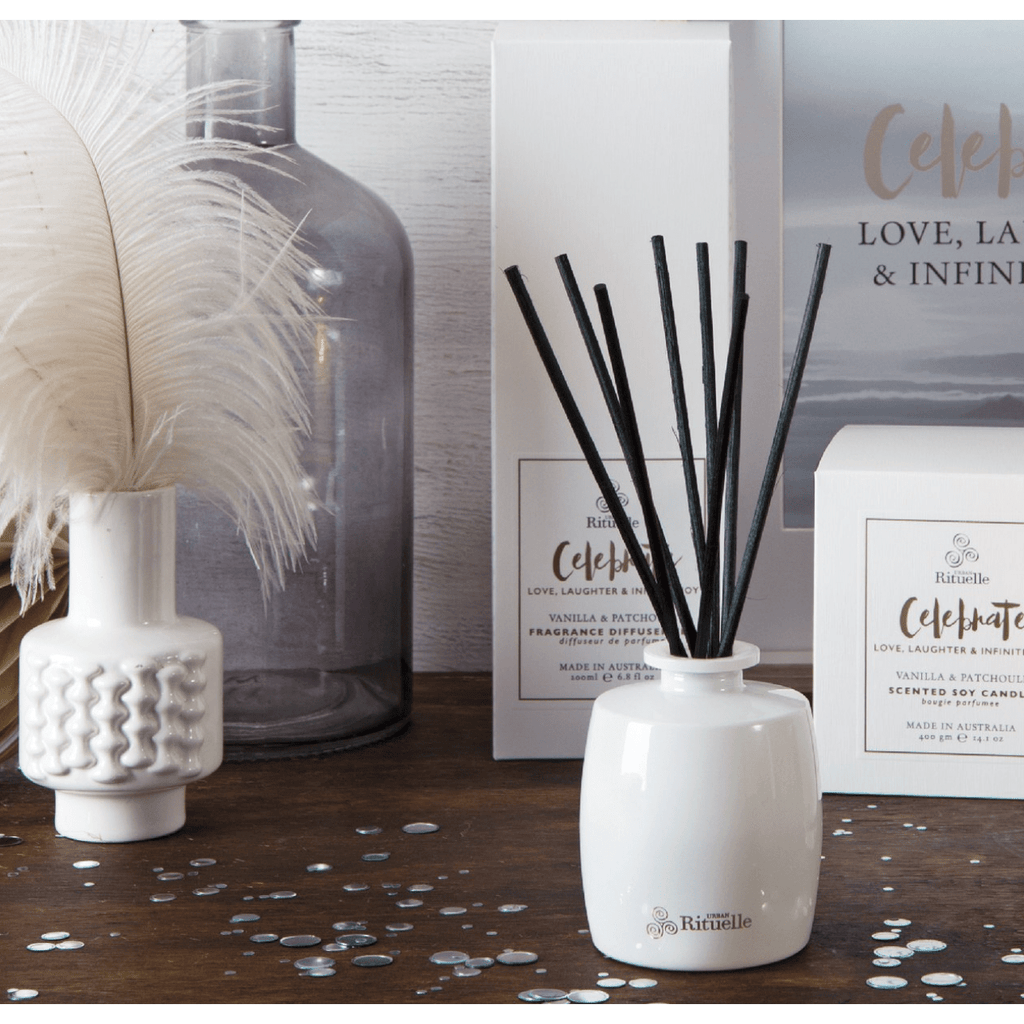 Celebrate - Vanilla and Patchouli Urban Rituelle Diffuser Set-Janggalay