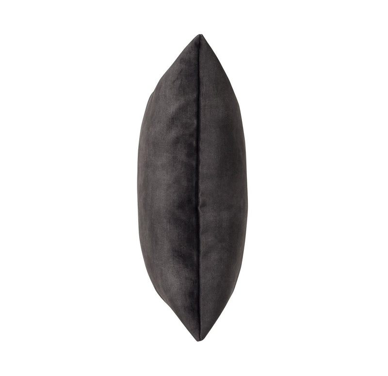 Ava Velvet Cushion Charcoal Black - Janggalay