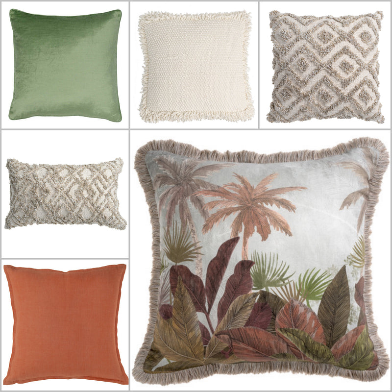 Piazza Natural Embroidered Cushion