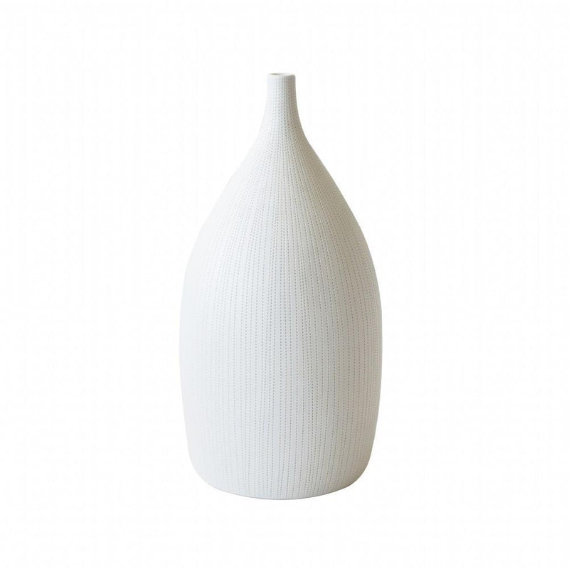 White Drop Ceramic Vase-Janggalay