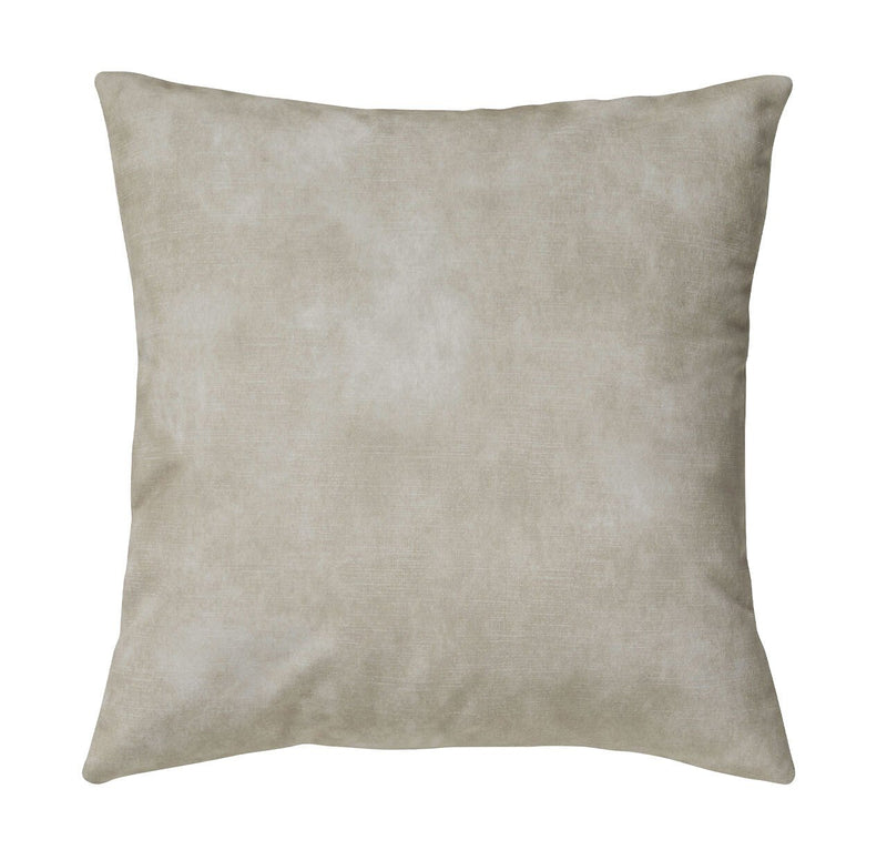 Ava Velvet Cushion Oatmeal - Janggalay