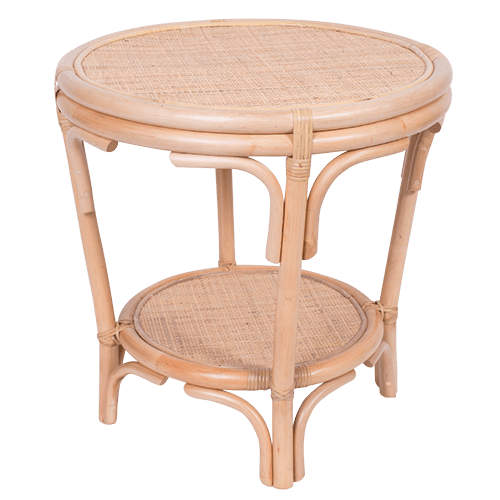 Coco Rattan Side Table Natural-Janggalay