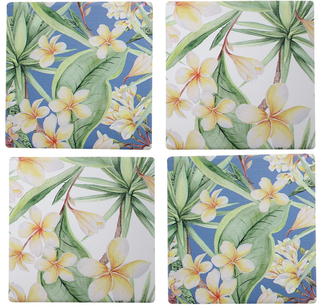 Frangipani Coaster Set of 4