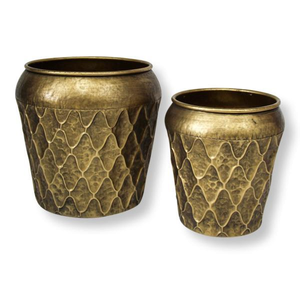 Abbas Gold Planter Pots Set of 2