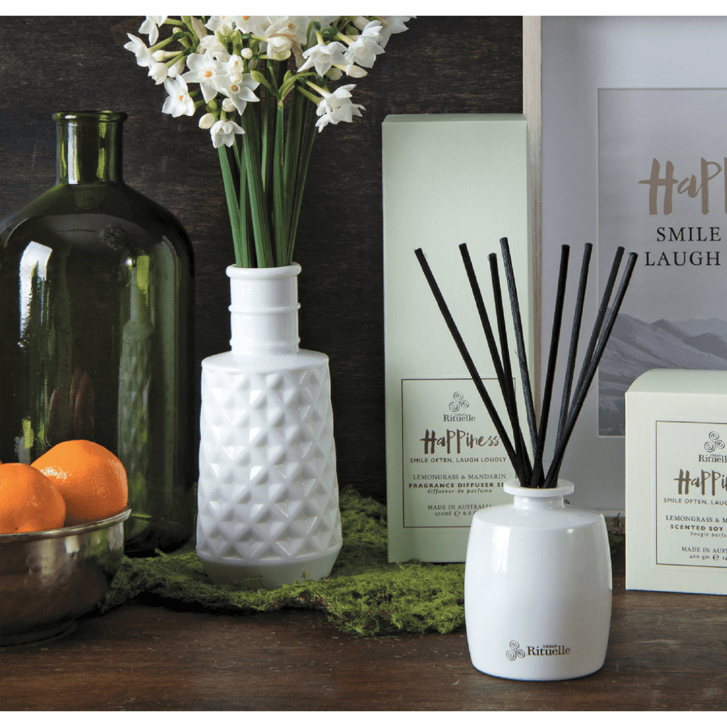 Happiness - Lemongrass and Mandarin Urban Rituelle Diffuser Set-Janggalay