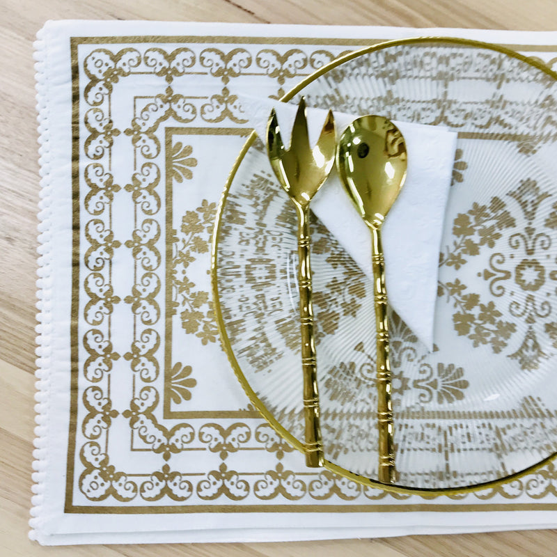 Gold Moroccan Table Runner
