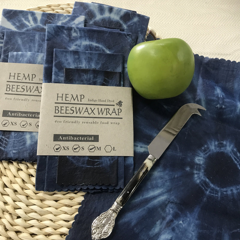 Beeswax Wraps Kitchen Wraps Shibori Fabric Eco Friendly-Janggalay