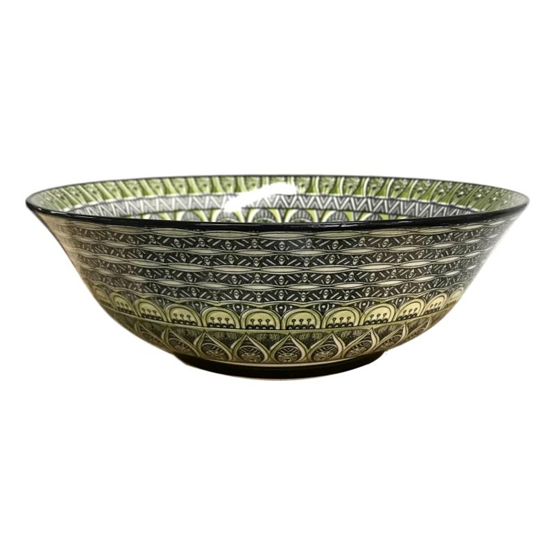 Aziza Salad Bowl Green and Grey-Janggalay