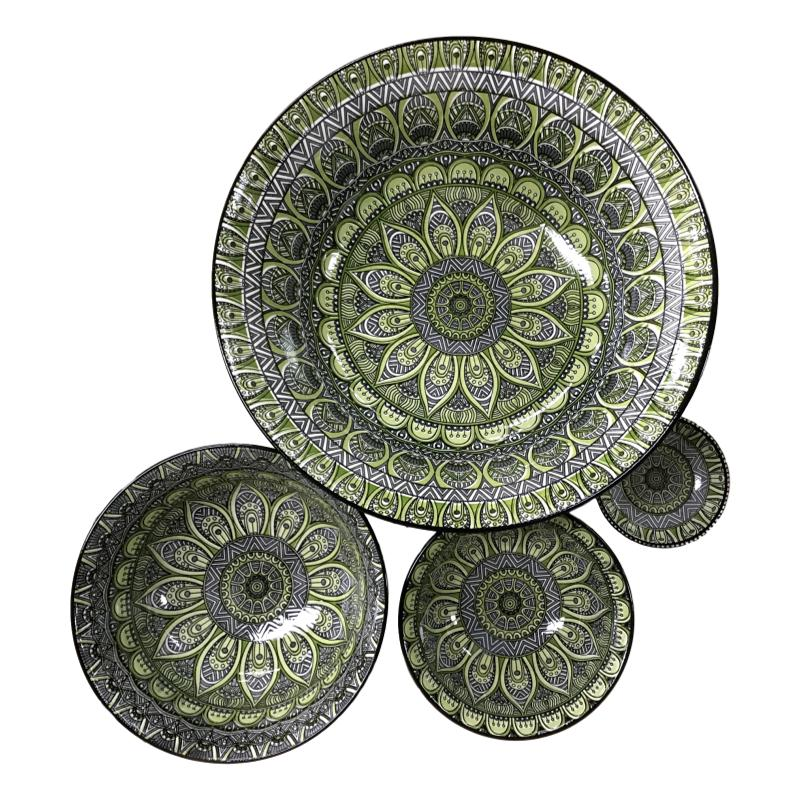 Aziza Dipping Bowl Green and Grey-Janggalay