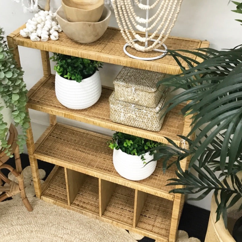 Rattan Shelf Standing or Hanging