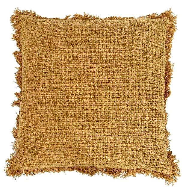 Boho Cushion Square - Dijon Mustard